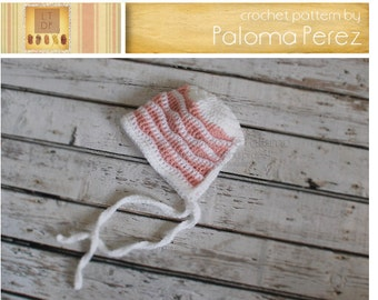 INSTANT DOWNLOAD - Crochet Baby Bonnet  Pattern - Baby Waves Bonnet Crochet Pattern
