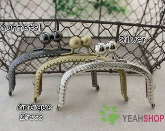 Large Bead Snake Skin Purse Frame - 10.5cm / 4.1 inch (PF-7) - Select a Color
