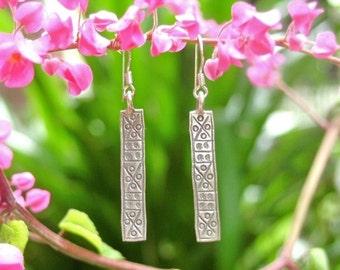 Karen Tribe Silver Earring - The Charming Rectangle (6)