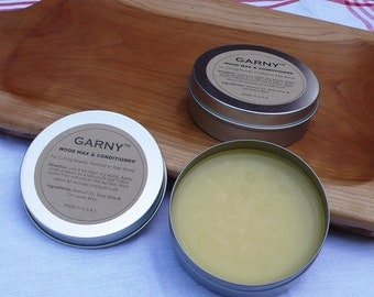 Wood Wax and Conditioner for Cutting Boards 100% Natural Food Safe - by Garny