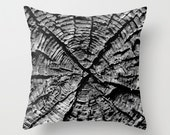 The X - Old Growth Pillow Cover - Cabin Home Decor - Wood Grain - Tree Wall Art - Made to Order