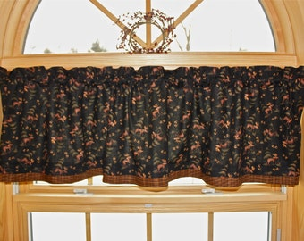 Northwoods Moose Lodge Cabin Country Curtain Window Valance