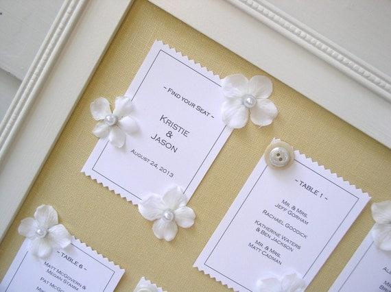 Garden Wedding Framed Reception Table Seating Card Display