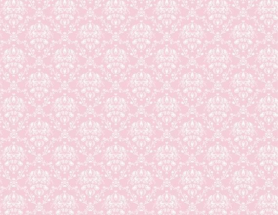 Items similar to Pink, White and Ivory Damask Background ...