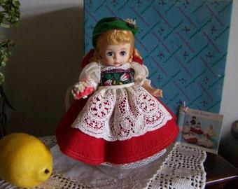 Vintage Madame Alexander Switzerland 594 with Original Box & Book = 1972 Storybook Doll RETIRED