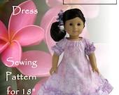 "Eden Ava Couture Hawaiian Muu Muu Dress Sewing Pattern for 18"" American Girl Doll"
