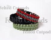 Paracord Bracelet 550 Para Cord Survival Camp Band Strap Watchncons- CHOOSE YOUR Color & Size