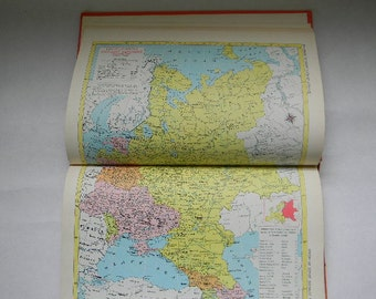 MAPS, 1962 Hammonds WORLD ATLAS Family Reference