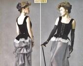 Steampunk Corset and Ruffle Bustle Skirt Pattern Butterick 5969 (Womens sizes 14-16-18-20-22)