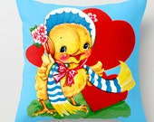 Vintage Valentine Cushion Ducky Loves You
