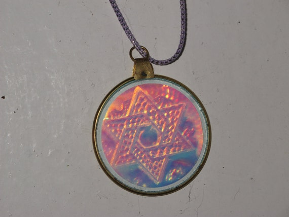 of david hologram necklace by yard666sale on etsy
