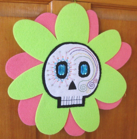 Sugar Skull Flower Decoration