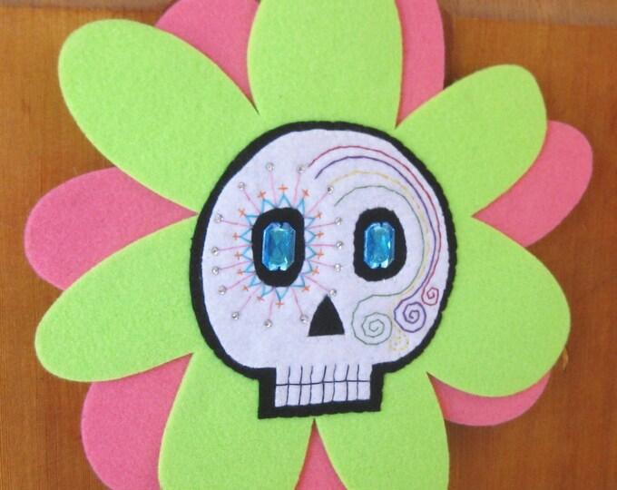 Sugar Skull Flower Decoration