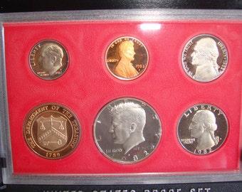 United States Proof Set 1982, US Coins, Kennedy Haft Dollar
