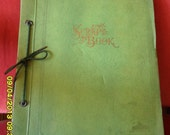 Antique Vintage Scrapbook filled with c.1900 Perry Pictures, old photos (boys & airplanes) and clips from Lansing, MI