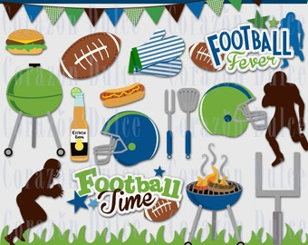 Football fever Personal and Commercial Use Clip Art -INSTANT DOWNLOAD -