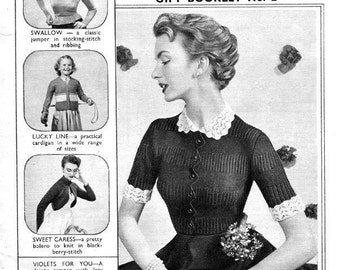 PDF Knitting Pattern Booklet for assorted 1940'S Ladies & Family Retro Knitting Patterns - Instant Download