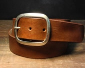 Brown Leather belt -   - B100  Handmade in USA