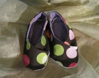 Brown Polka Dot Slipper Shoes
