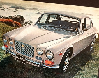 Vintage Jaguar XJ6 Jag British Leyland Original Print Ad, Period Paper (1972) - Automobile Collectible, Ephemera