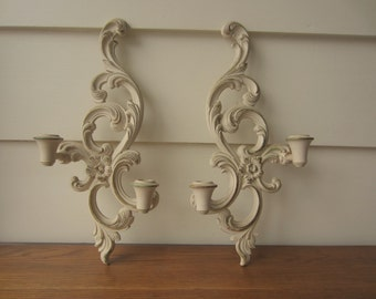 French Provincial 1960s sconce set.