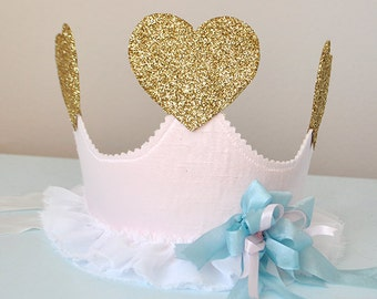 Unicorn Kisses Birthday Crown, special occasion, dress up, photo prop