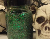 Spooky Jookie Halloween 2013 Indie Franken Nail Polish Glow in the Dark Green Glitter Flecks
