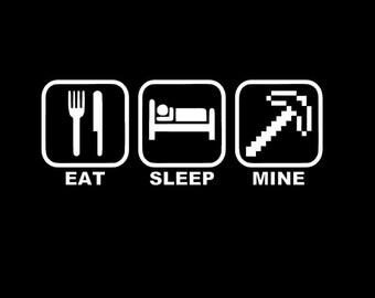Eat Sleep Mine Kids T-shirt