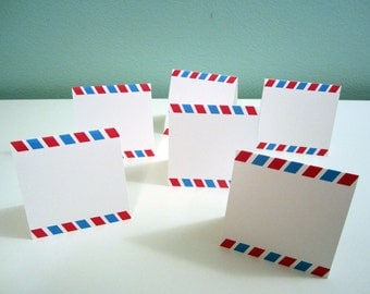 Instant Download Printable DIY - Airmail place cards seating cards