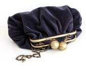 Plum Velvet Evening Bag