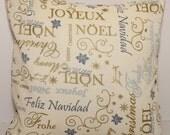 12x12 Wordy Christmas Pillow