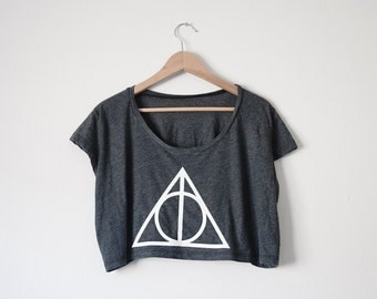 Deathly Hallows Crop Top - Inspired by Harry Potter - Available in 3 Colors