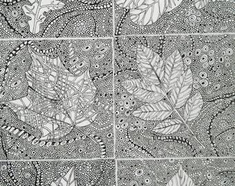 Leaves Print Large Giclee Print