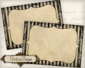 Grunge Blank Labels - printable / add your own text - VD0542