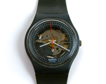 Vintage Swatch Watch 1984 High-Tech 2 Swatch Rare