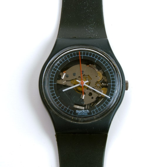 Vintage Swatch Watch 1984 HighTech 2 Swatch Rare -> Munari Quartz