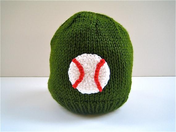 kid s knit hat kid s baseball hat kid s by littleknitsstudio