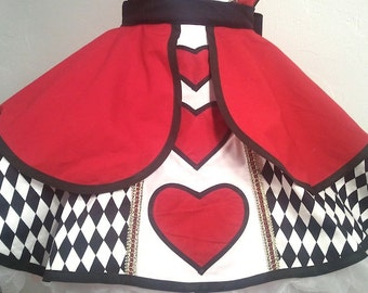 Plus Size Queen Of Hearts Pin Up Costume Apron