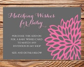 Matching Baby Wishes Card, Digital, Printable File