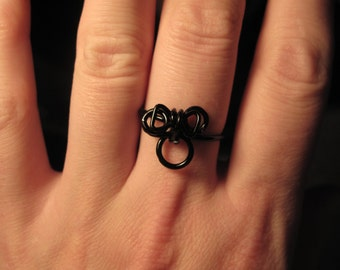 Wire Wrapped Minnie Mouse MADE to ORDER Ring
