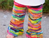 Pants Rainbow Girl Eco Friendly Baby Toddler Wool Longies Custom Hand Dyed Knit