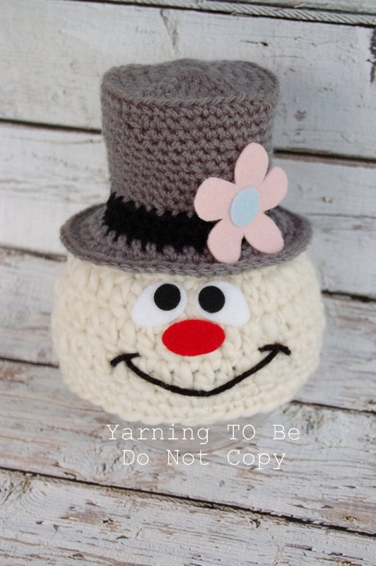 frosty the snowman inspired hat newborn 6 months by