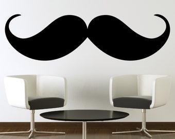 Clearance Mustache Wall Decal Sticker