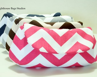 5 Chevron Bridesmaid Clutches Choose your own color  Blue Gray Coral Black Red Hot Pink Lavender Green Yellow Navy Blue Brown Orange