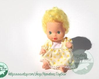 Baby Lemon Meringue Miniature Doll 1980s Toy Strawberry Shortcake Line
