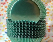 Holiday Wintergreen Mint  Foil Cupcake Baking Cups-50