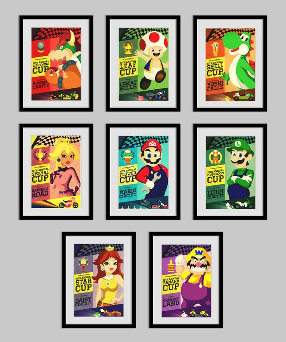 Mario Kart Combo Pack All 8 Posters - 109.0KB