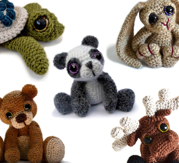Amigurumi Crochet Pattern Bundle Buy 3 get 1 by PatchworkMoose