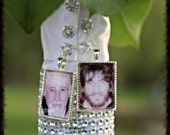 3 KITS to make Wedding Bouquet charms -Photo Pendants charms for family photo (includes everything you need including instructions)