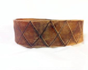 Distressed Leather Cuff - leather cuff bracelet men - leather cuff bracelet women - cuff leather bracelet - cuff bracelet personalized